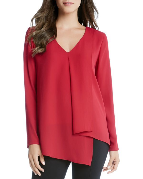 Karen Kane Asymmetric Draped Top