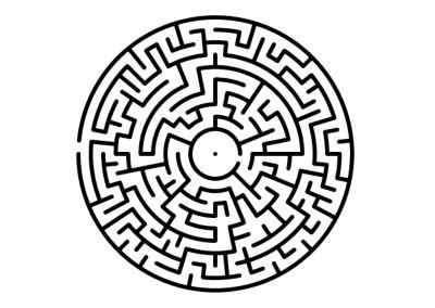 Labyrinth, Irrgarten Kreis