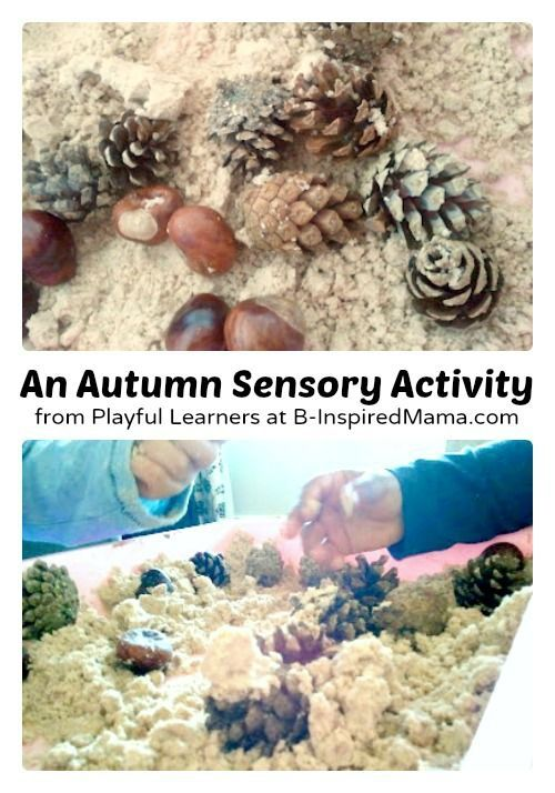 A Simple Autumn Sensory Activity for kids using Scented Cloud Dough - at B-Inspired Mama