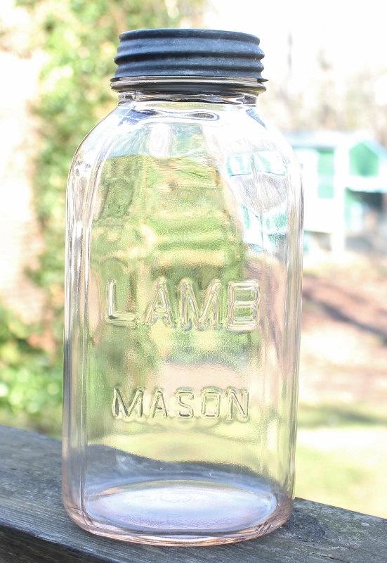 mason jar lamb 2 quart via etsy thisthatnthuther pinterest jars masons and. Black Bedroom Furniture Sets. Home Design Ideas