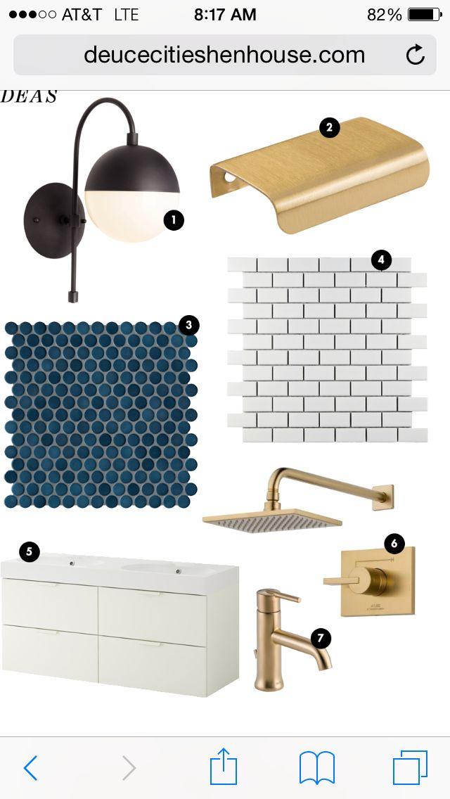 Dark blue penny tile from Waterworks - http://www.waterworks.com/collections/waterworks/penny-tile/214