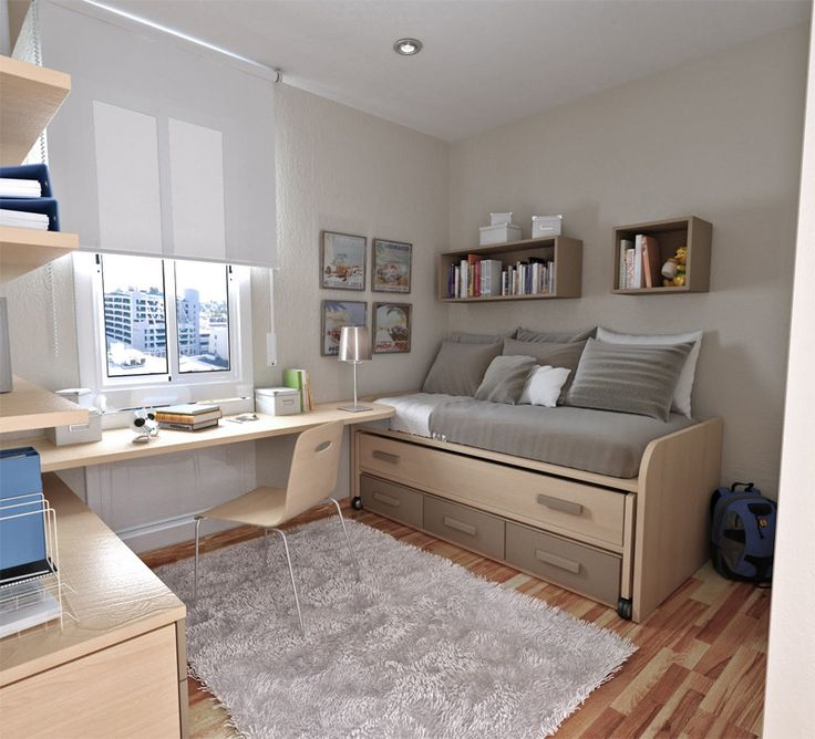 Combination office and guest bedroom