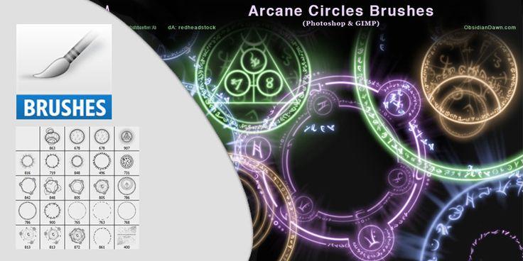 Arcane Ccircles Symbols Photoshop Brushes