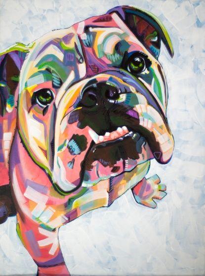 English Bulldog Print Art Print