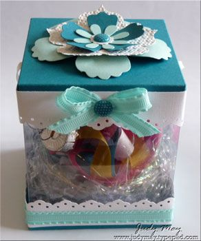 Judy May: Pool Parties, Treats, Ornaments Boxes, Su Stamps Ideas, Paper Crafting Hybrid, Pools Parties, Paper Crafts, Gifts Boxes, Parties Ornaments