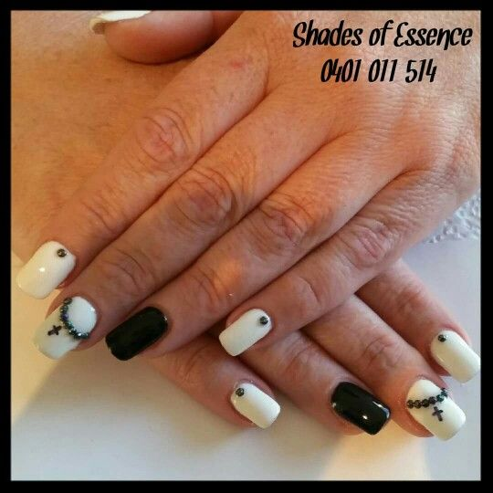 Black and white nails, nailart