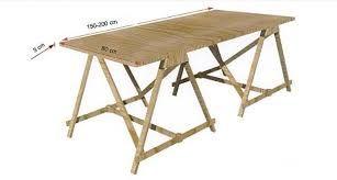 Risultati immagini per progetto tavolo da lavoro gambe pieghevoli