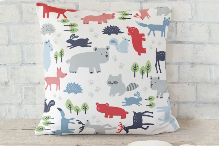 Forest friends cushions | Stylisti on Minted