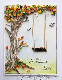 contour-Trees are one of my favorite quilling subjects-beautiful, beautiful tree.  Helen P-CreaQuill cards