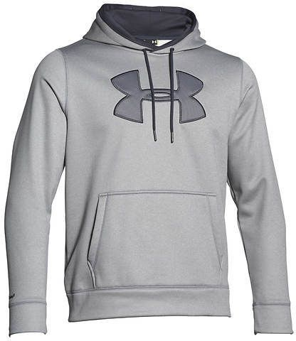 Please click on the picture to go to the detail page.  Under Armour Men's Storm Armour Fleece Big Logo Solid Hoodie