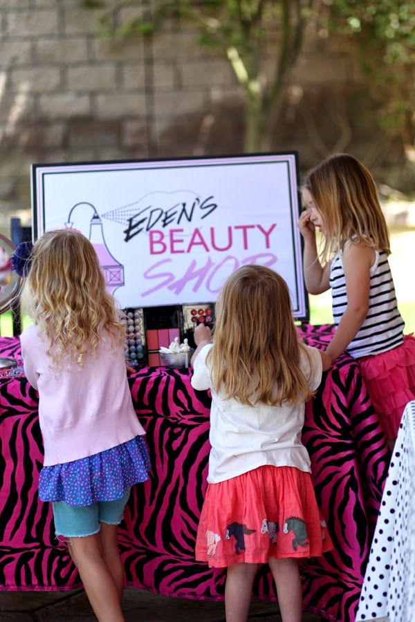 Beauty makeup birthday party ideas