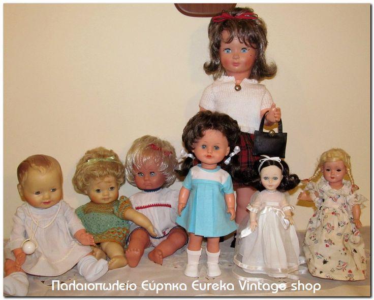 Ελληνικές, Ιταλικές και Γερμανικές κούκλες, 1950's 1960's 1970's Διάφορες κούκλες από διάφορες δεκαετίες για την συλλογή σας.