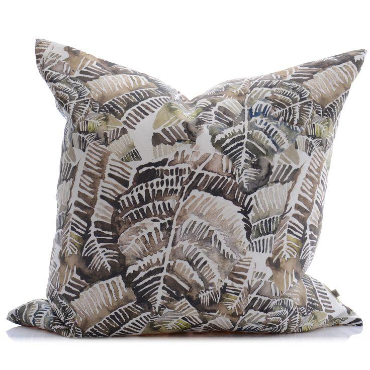Cascades I Large Linen Cushion