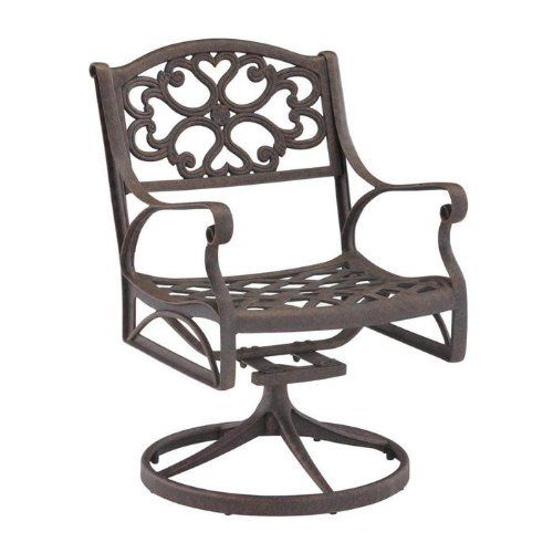Home Styles Biscayne Outdoor Swivel Arm Chair, Multiple Finishes
