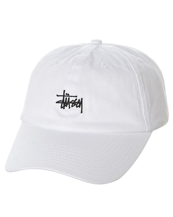 296d05dac3deb8 Stussy Stock Lo Pro Strapback Cap White Cotton | Fashion 4 Men | Stussy cap,  Hats, Mens caps