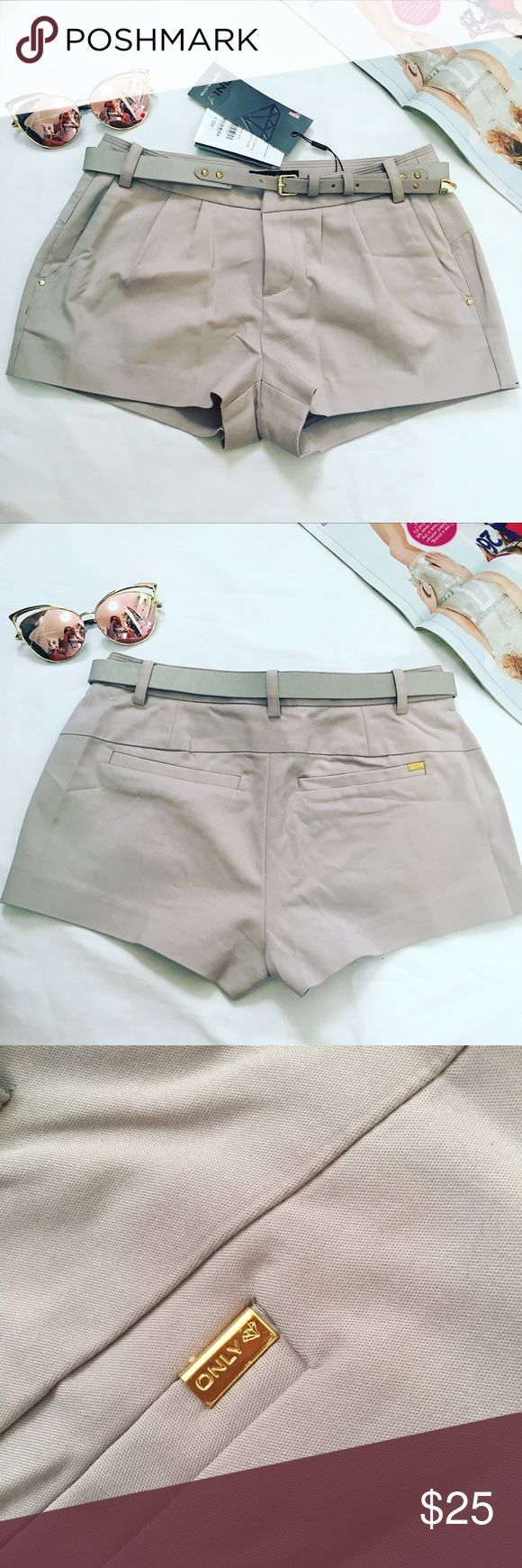 Only Jeans Grey Shorts with belt Brand new with tags Shorts Jean Shorts