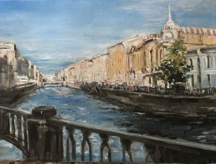 A personal favourite from my Etsy shop https://www.etsy.com/listing/598796297/oil-painting-on-canvas-city-landscape