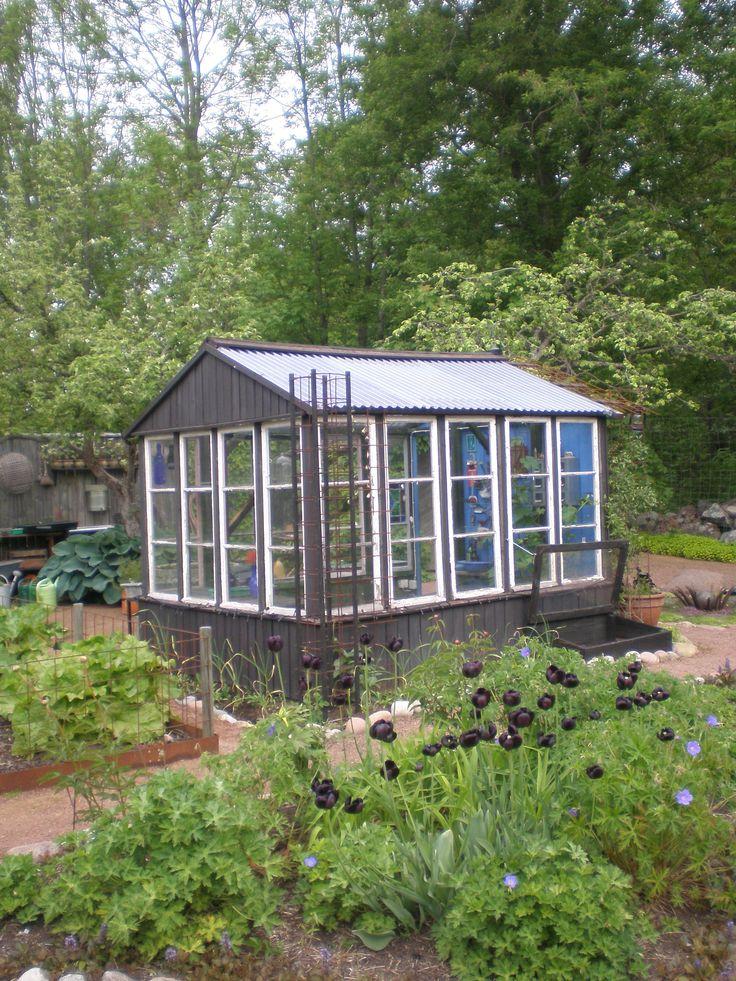 Ihana kasvihuone, ihanassa puutarhassa (Puutarhamatka Ahvenanmaalle 2011)