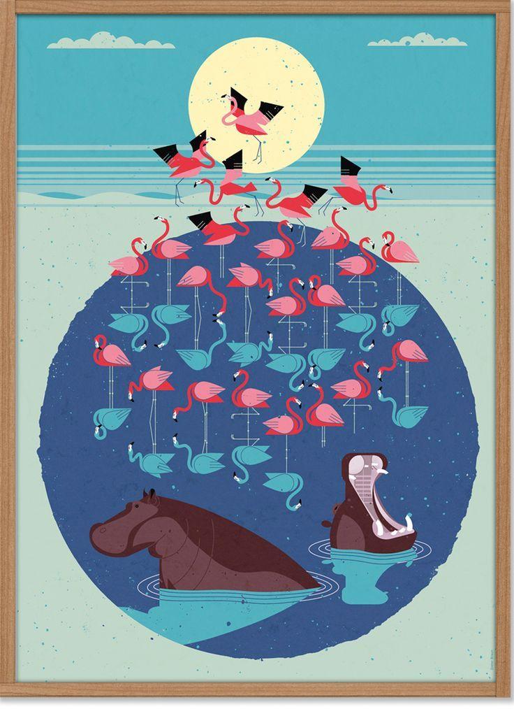 Flamingo Poster 50 X 70 Cm East End Prints Dieter Braun Flamingo Art