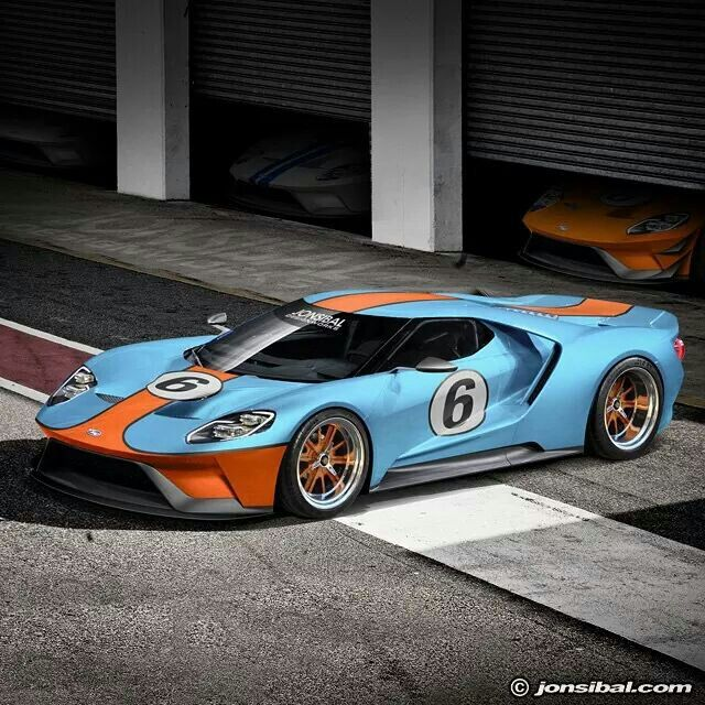 2016 Ford GT, Golf race car rendering. .