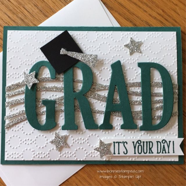 Swirly Scribbles Thinlits and Large Letters Framelits Graduation Card