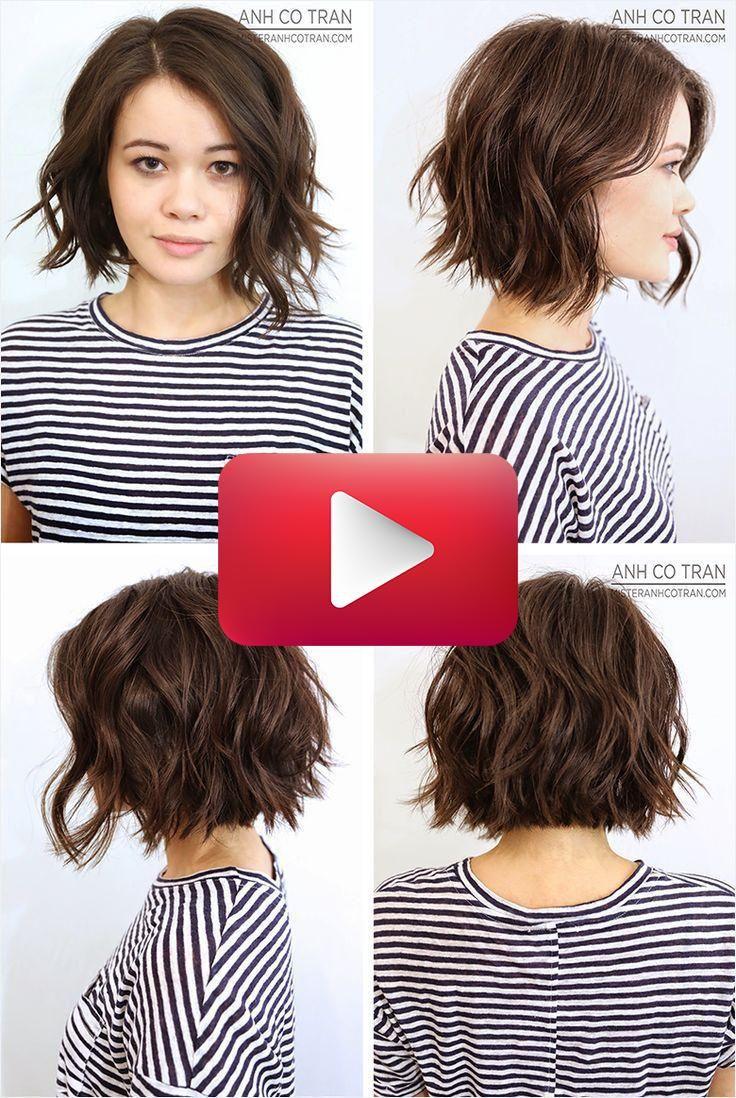 Wellenförmige Bob-Haarschnitte unordentliche Wellen Bob