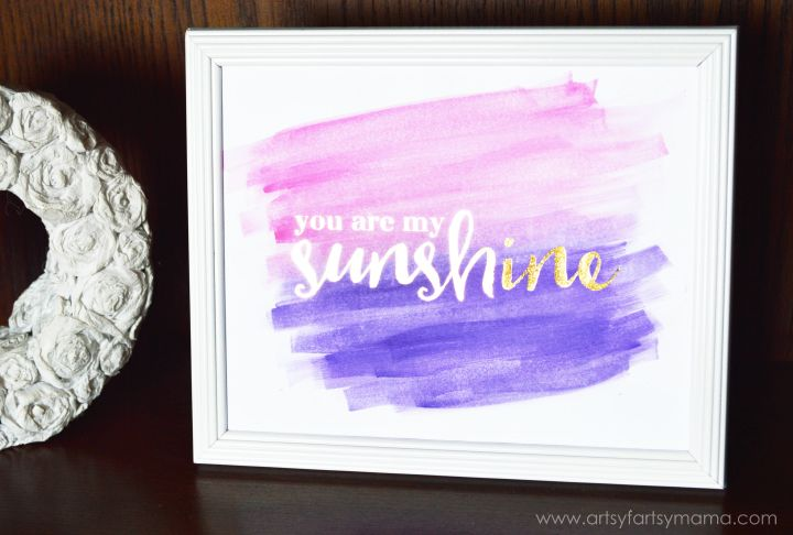 Free Printable Foil Watercolor Gift Tags at artsyfartsymama.com using the @heidiswapp Minc Foil Applicatior Machine