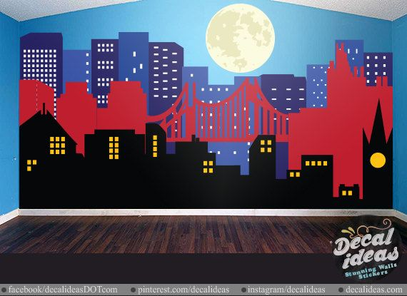 Best Superhero Wall Decals Murals Images On Pinterest - Superhero wall decals for kids roomssuperhero wall decal etsy