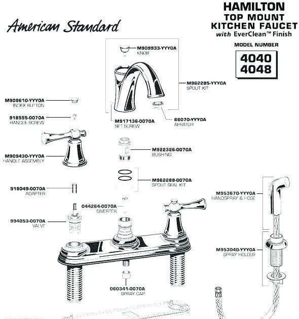 american standard sink faucet parts