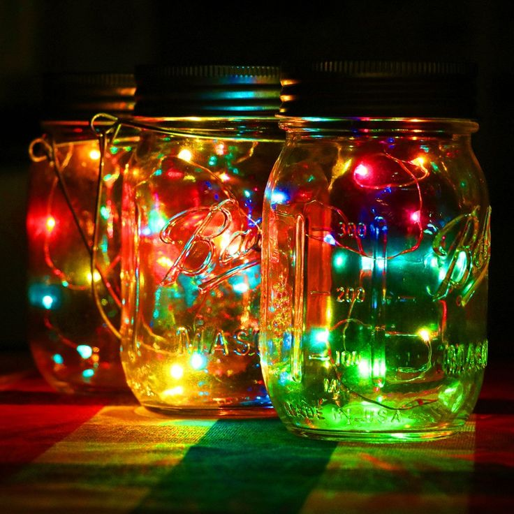 3pcs/lot Solar Panel Mason Jar Lid String Lids Walkway Solar LED Lights Lid Christmas ...