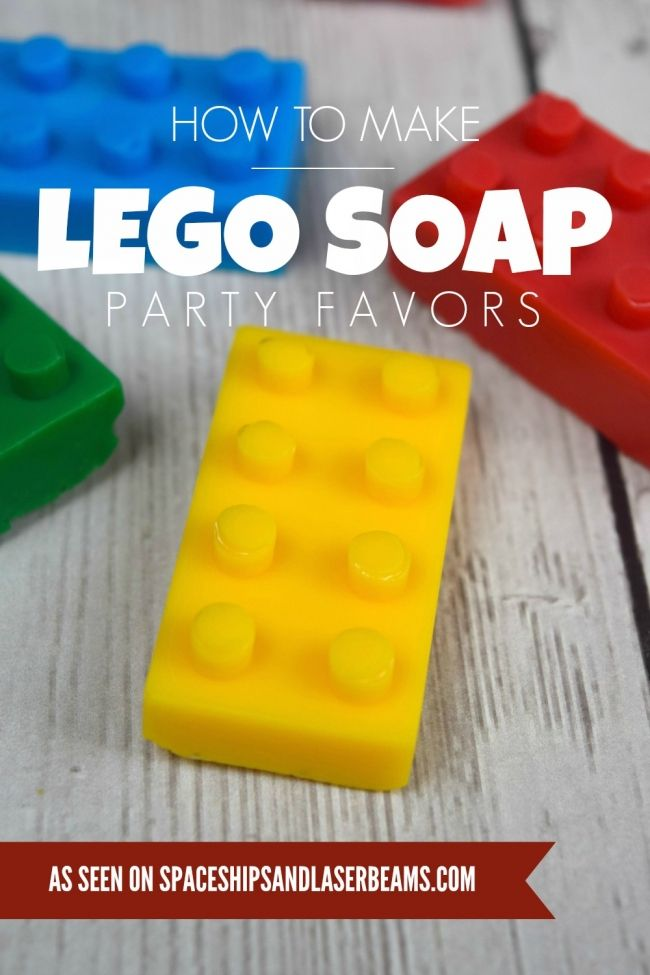 How to Make Lego Soap Party Favors - Spaceships and Laser Beams