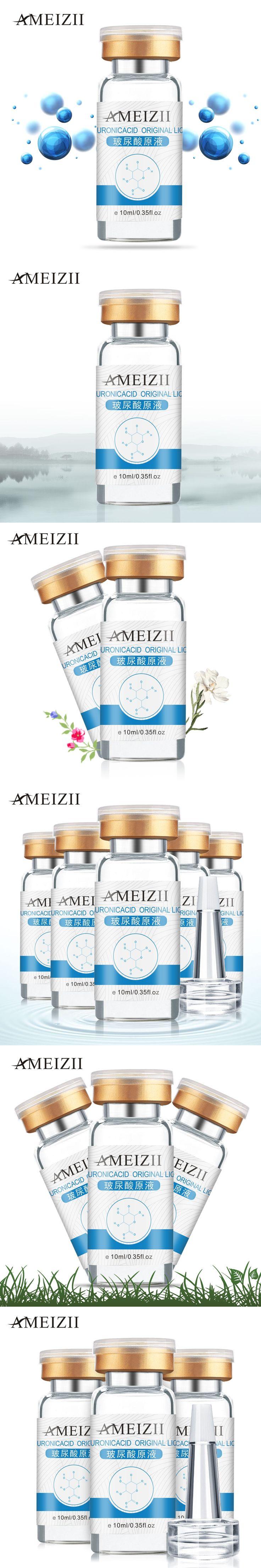 AMEIZII 10ml Pure Hyaluronic Acid Liquid Skin care Moisturizing Whitening Snail Repair Anti Wrinkle Cream Anti Aging Face Care