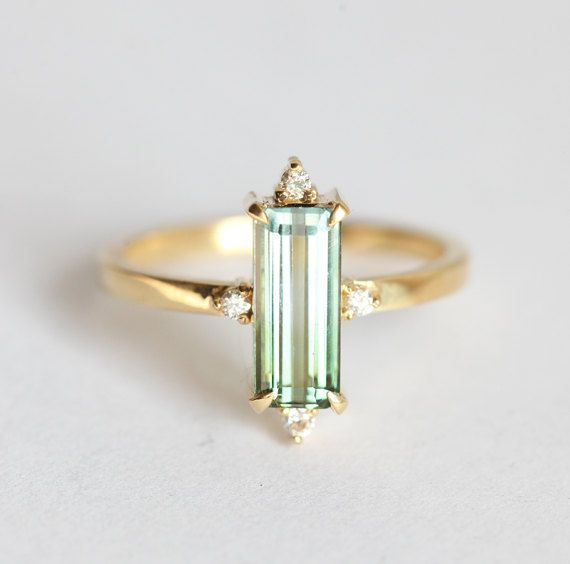 Unique Tourmaline Ring Watermelon Tourmaline Ring by MinimalVS
