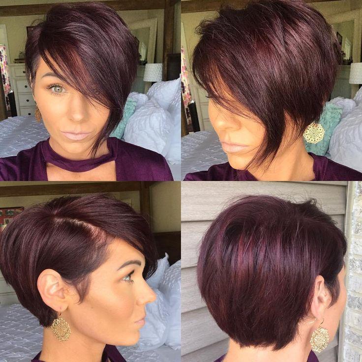 Burgundy Pixie Cut