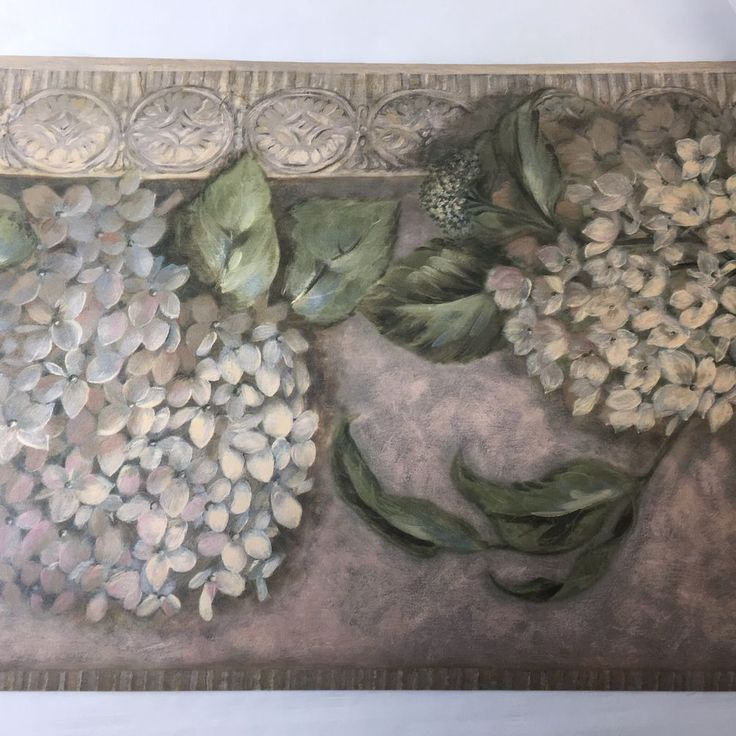 York Hygrangea Floral Prepasted Wallpaper Border 5 Yards SY1268B Flower #York #Hydrangea