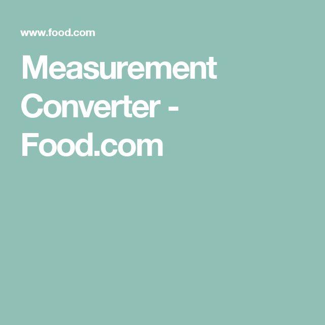 Measurement Converter - Food.com