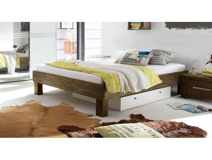 Industrial Look Couch 140x200 Cm Acacia Brown Caldera Solid