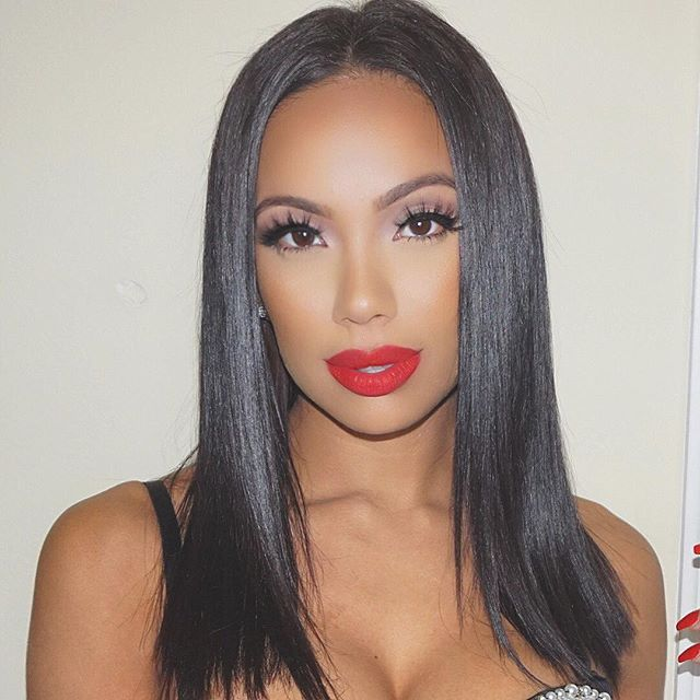Selena inspired look. Red lips, let the night take the blame. Erica Mena