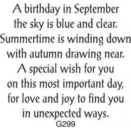 September Birthday Greeting