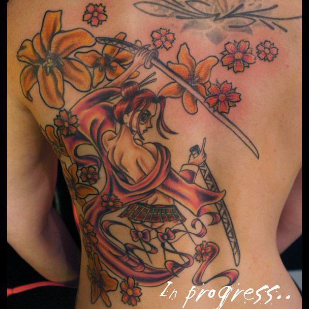 _ anime warrior girl tattoo _