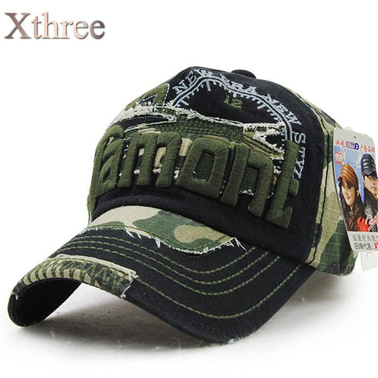 Xthree unisex camouflage baseball cap swag cap Casual Outdoor Sport snapback Hat for men Cap women gorra  casquette Wholesale