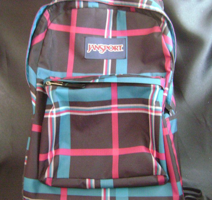 JanSport Rolling Backpack Travel Book Bag Lap Top Luggage Wheels Pink Plaid  #JanSport #BackpackRolling