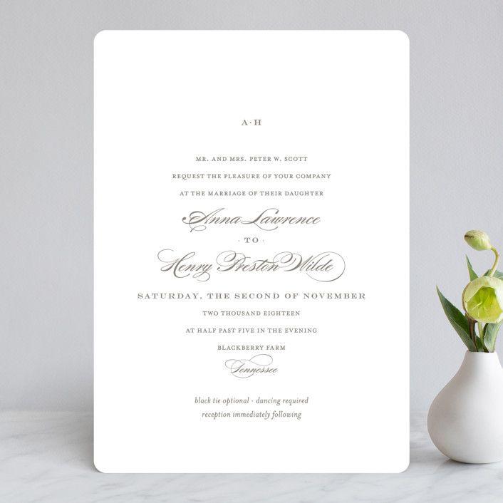 Field Wedding Invitations By Toast Laurel Minted Wedding Invitations Petite Wedding Invitation Customizable Wedding Invitations