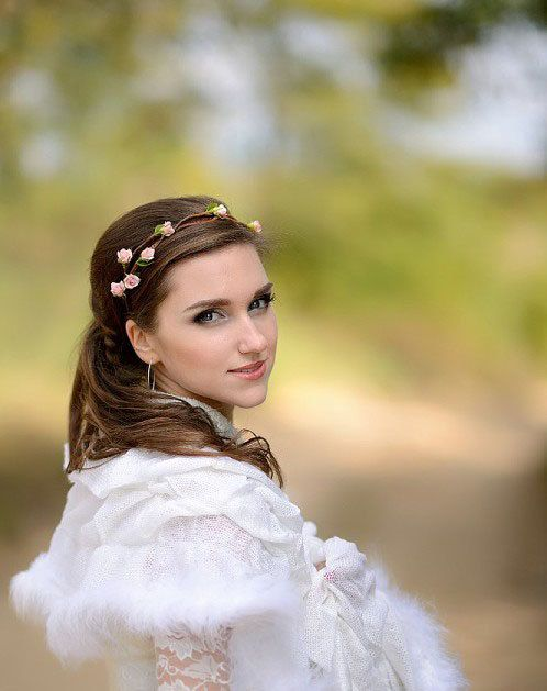 Handmade pink hair accessory Headband Provence от JewelryFloren