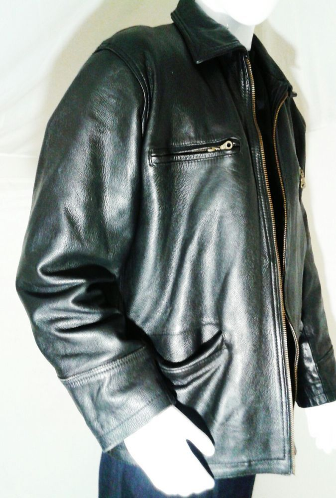 Bigwigs Harley Sport Leather Jacket, Size L, in Black  #BigwigsHarleySport