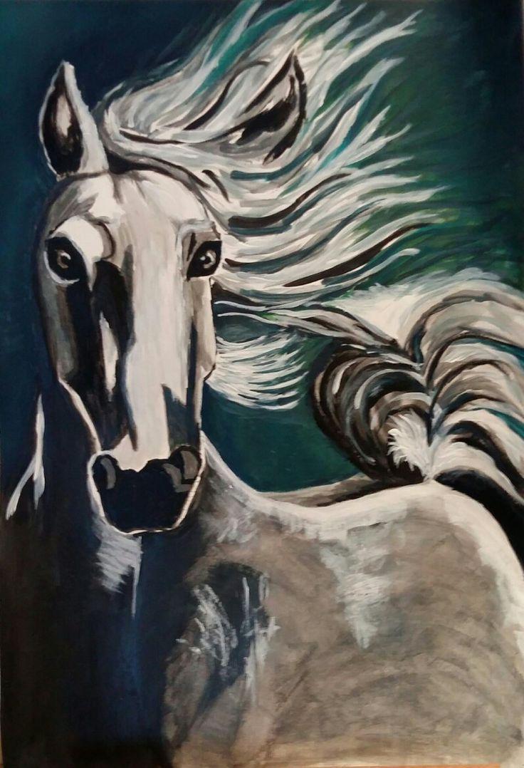 cheval acrylique