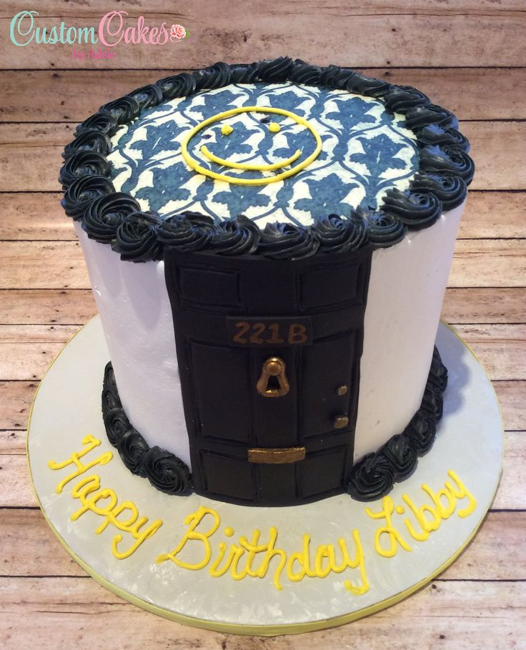 Sherlock themed birthday cake