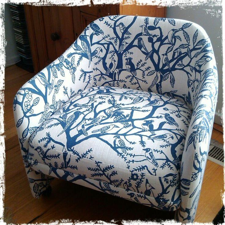 Art Project 2014 - Example of upholstry with Bonisa fabric - Indalo indigo
