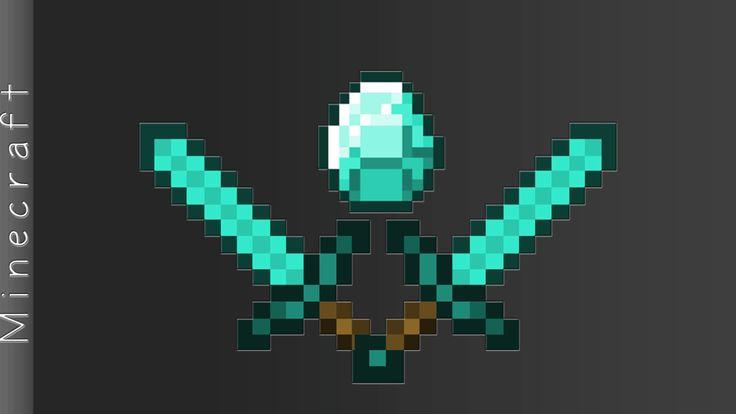 Minecraft Wallpaper | diamond-sword-duo.png - 81.7 KB