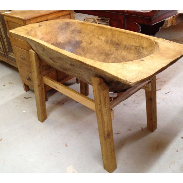 Large dough bowl on stand